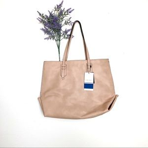 NEW Blush Pink Zara Trafaluc Medium Tote Bag